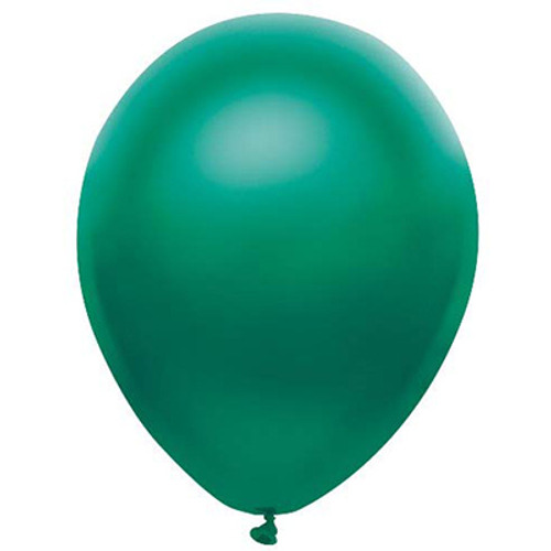 """PartyMate Satin Forest Green 12"""" Latex Balloon 10 Count"""