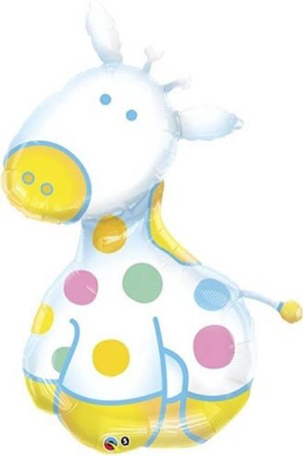 "Giraffe Baby Blue 48"" Foil Balloon"