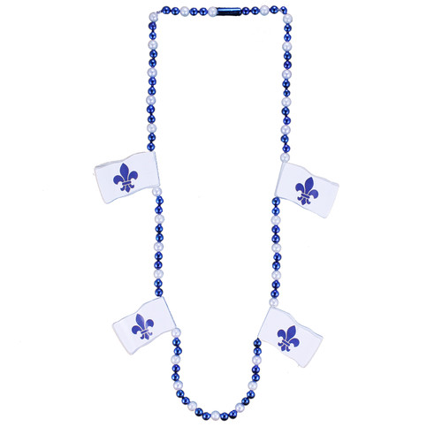 Quebec Flag Bead Necklace | Collier de perles drapeau du Québec