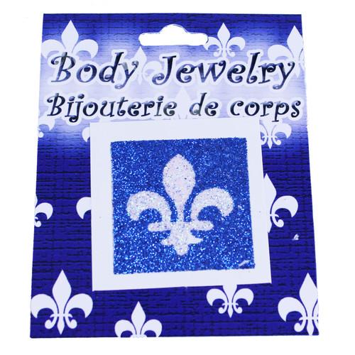 Quebec Glitter Tattoo Stickers | Autocollants de tatouage paillettes du Québec