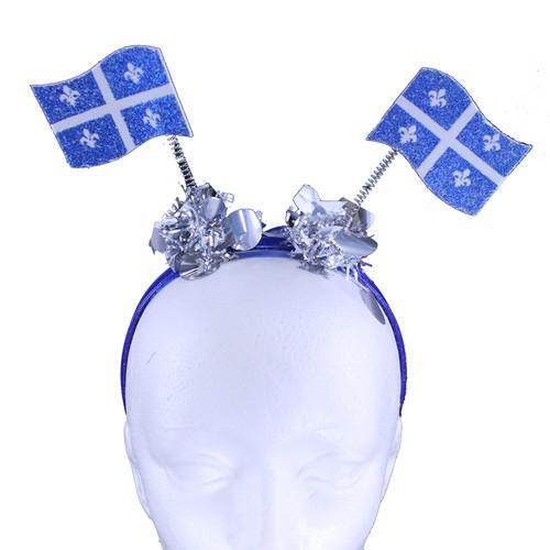 Quebec Flag Glitter Head Bopper | Bopper à tête scintillante drapeau du Québec