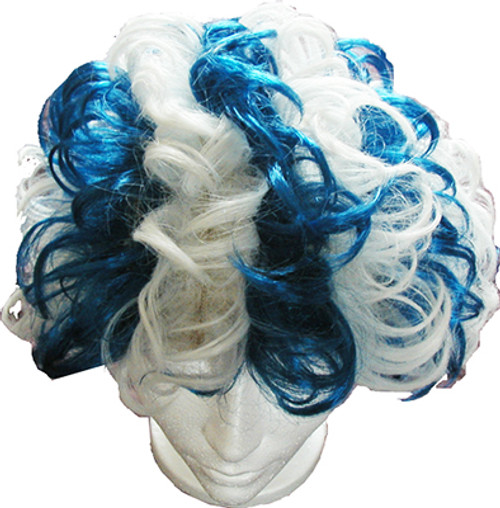 Blue & White Party Wig