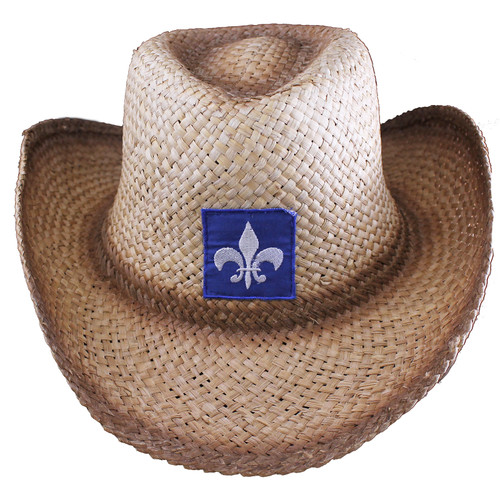Quebec Straw Cowboy Hat   Chapeau de cowboy en paille du Québec