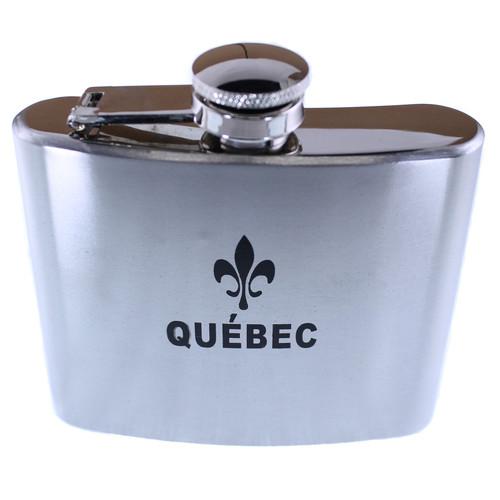 Quebec Print Whiskey Flask | Flacon à whisky imprimé du Québec
