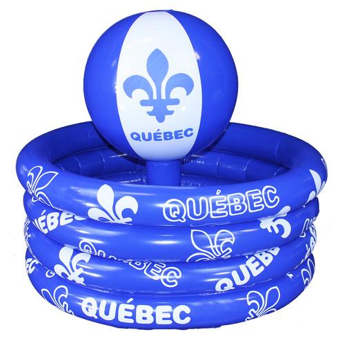 Quebec Inflate Beach Ball Party Cooler   Glacière flottante gonflable Québec