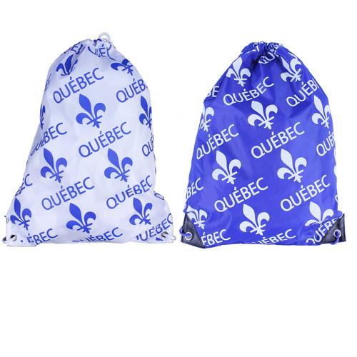 Quebec Print Cinch Bags | Sacs imprimés du Québec