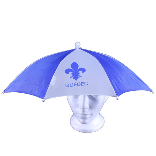 Quebec Print Umbrella Hat   Chapeau parapluie imprimé Québec
