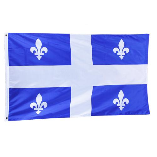 Quebec Flag Large 3 x 5 Feet Drapeau Quebec