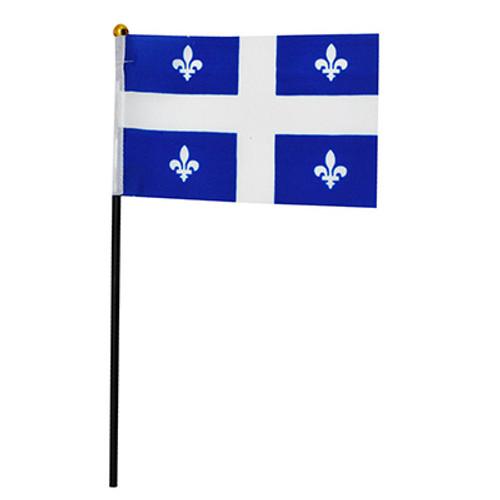"""Quebec Hand Waving Flag 4"""" x 6"""""""