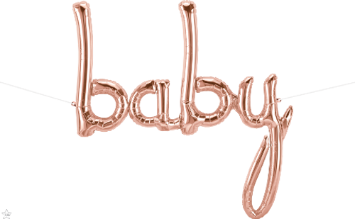 Baby Script 46 in - Rose Gold