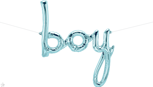 Boy Script 42 in - Pastel Blue