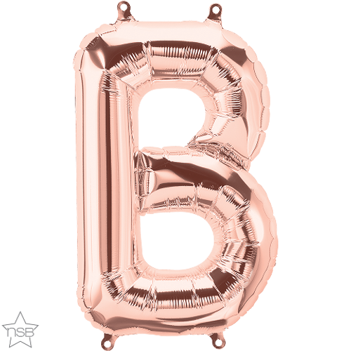 Letter B 16 in - Rose Gold Foil Balloon