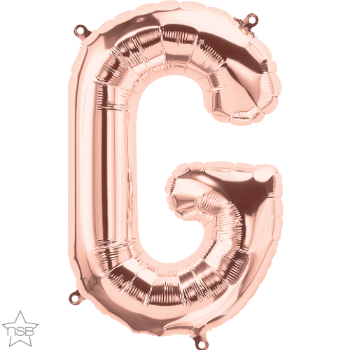 Letter G 16 in - Rose Gold Foil Balloon