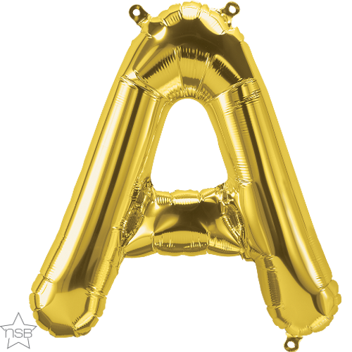 Letter A 16 in - Gold Foil Balloon
