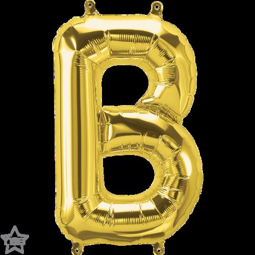 Letter B 16 in - Gold Foil Balloon