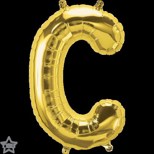 Letter C 16 in - Gold Foil Balloon