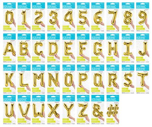 """Gold 16"""" Foil Balloon Planogram"""