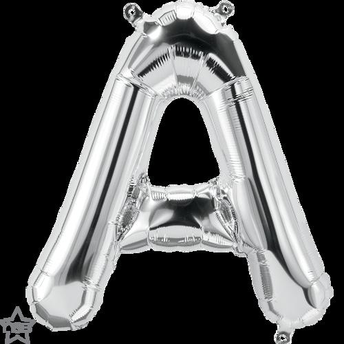 Letter A 16 in - Silver Foil Balloon