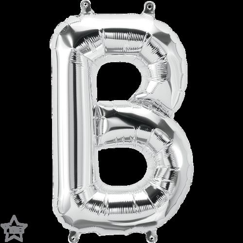 Letter B 16 in - Silver Foil Balloon