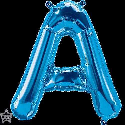 Letter A 16 in - Blue Foil Balloon
