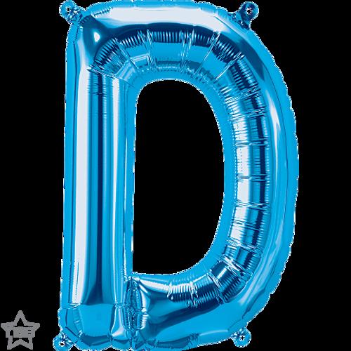 Letter D 16 in - Blue Foil Balloon