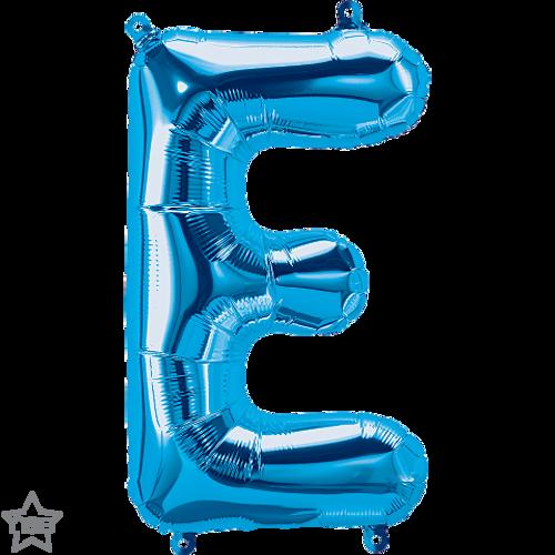 Letter E 16 in - Blue Foil Balloon