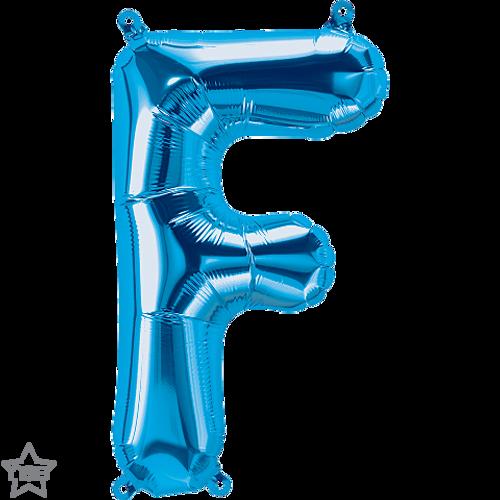 Letter F 16 in - Blue Foil Balloon