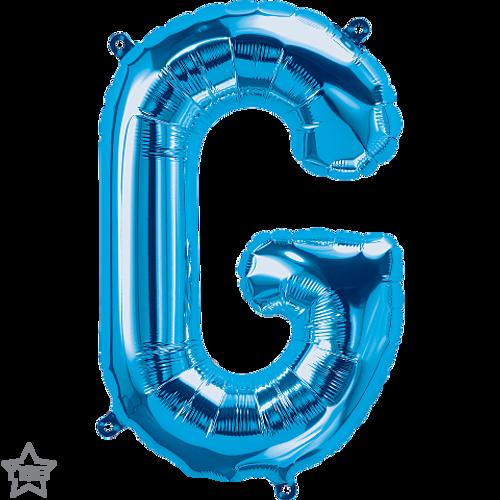 Letter G 16 in - Blue Foil Balloon
