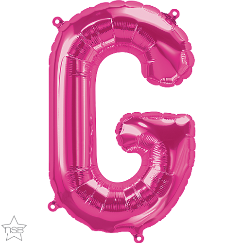 Letter G 16 in - Magenta Foil Balloon