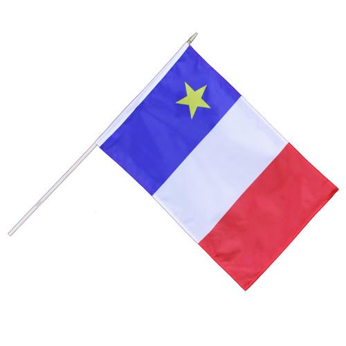 """Acadian Hand Waving Flag 12"""" x 18"""""""