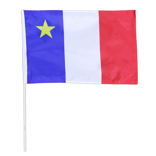 """Acadian Hand Waving Flag 30"""" x 40"""""""