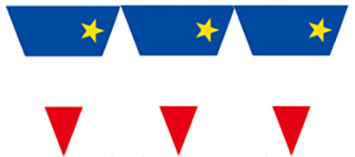 Acadian Flag Banner 12 FT
