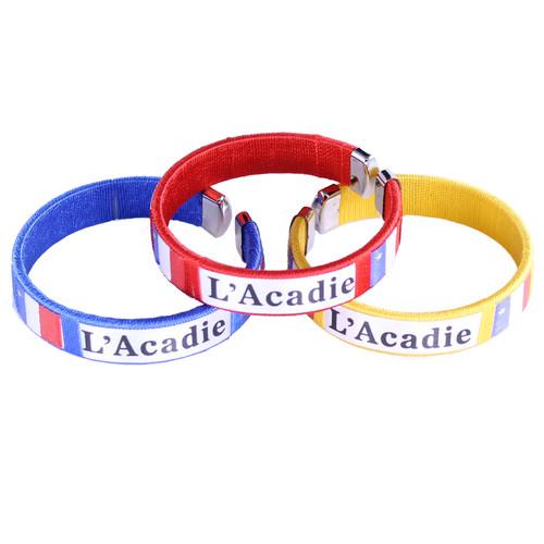 Acadian Print Knit Bracelets