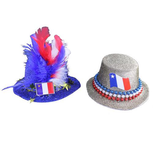 Acadian Mini Top Hat Hair Clips