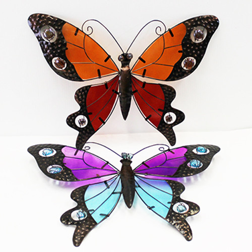 Stain Glass Butterfly Wall Decor