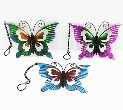 Metal Butterfly Hanging Decor
