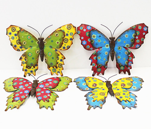 Metal Painted Butterfly Hanging Decor