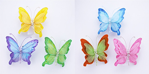 Nylon Butterfly on Clip & Magnet