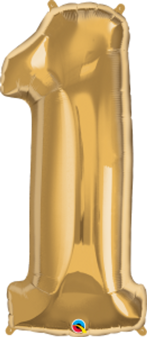 """Number One - Metallic Gold 38"""""""