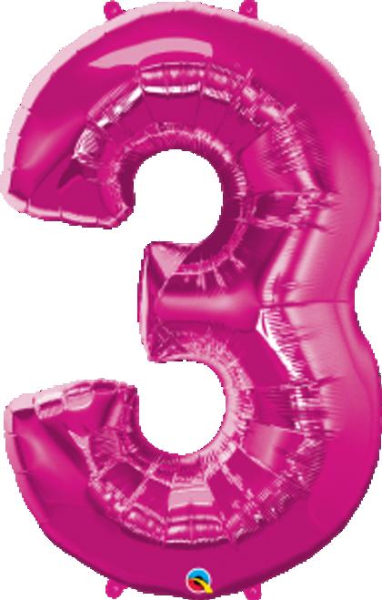 "Number Three - Magenta 44"""