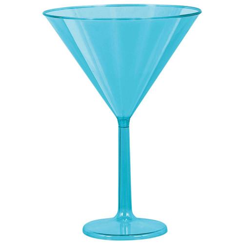 Aqua Blue Martini Glasses 4PK