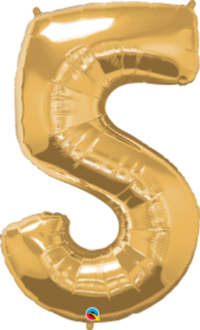 "Number Five - Metallic Gold 44"""