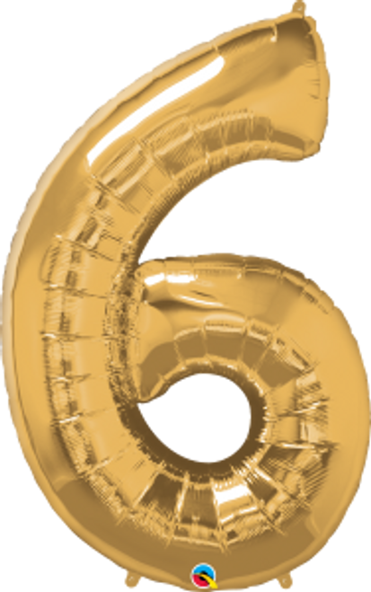 "Number Six - Metallic Gold 42"""