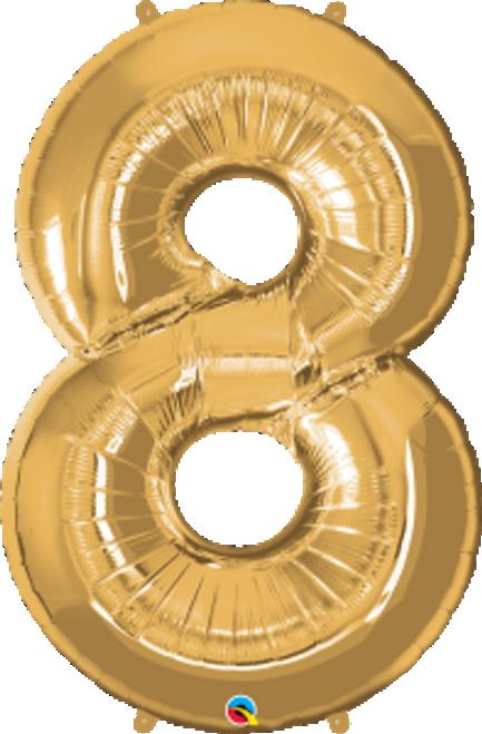 "Number Eight- Metallic Gold 42"""