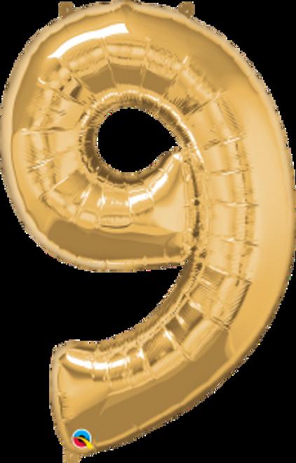 "Number Nine- Metallic Gold 42"""