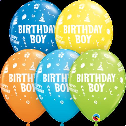 "Birthday Boy 11"" Latex Balloons"