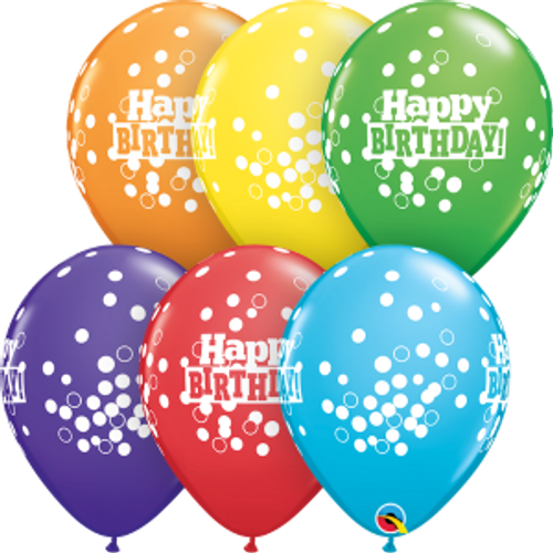 "Birthday Confetti Dots 11"" Latex Balloons"