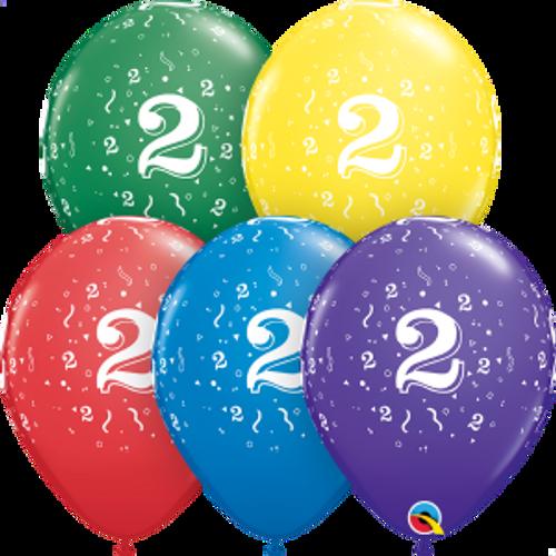 """2 Confetti-A-Round 11"""" Latex Balloon"""