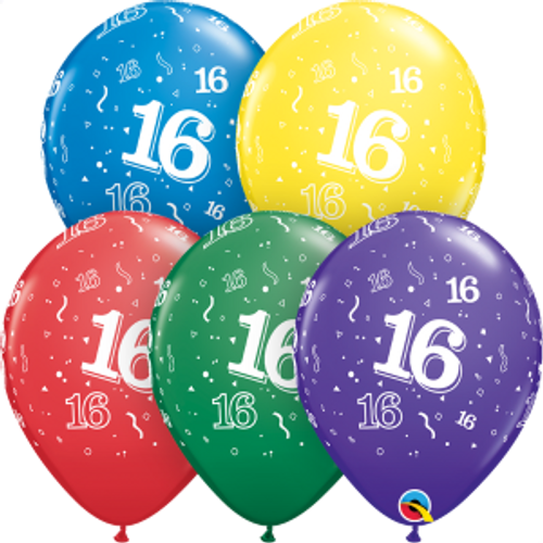 "16 Confetti-A-Round 11"" Latex Balloon"