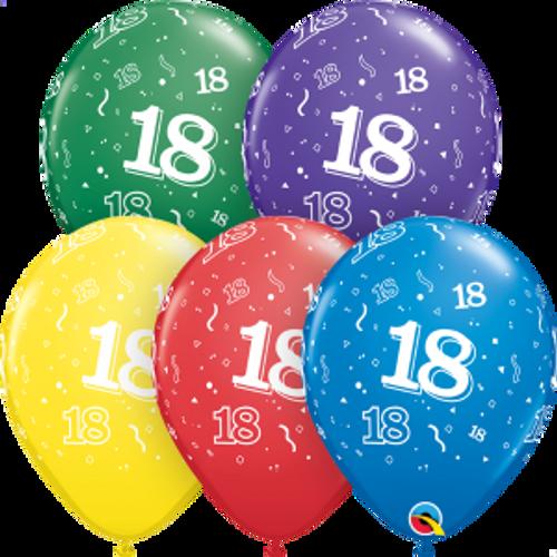 """18 Confetti-A-Round 11"""" Latex Balloon"""